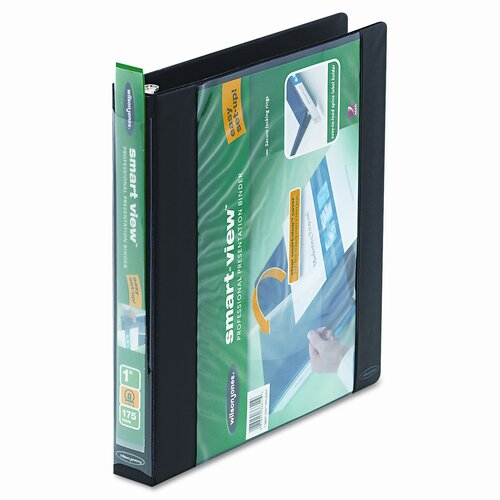 "Wilson Jones Smart-View Round Ring View Binder, 1"" Capacity"
