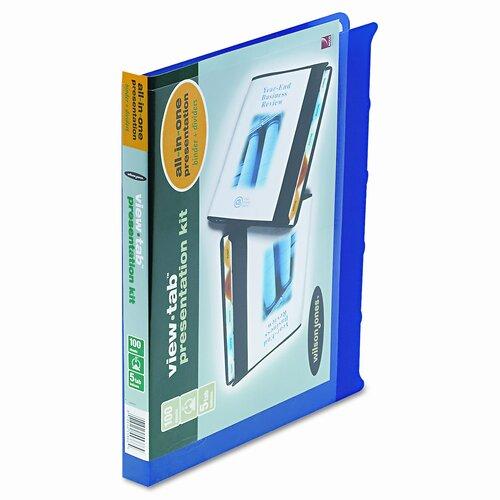 "Wilson Jones View-Tab Round Ring Presentation Binder, 5-Tab Style, 5/8"" Capacity"