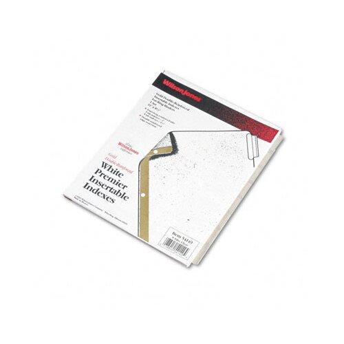 Wilson Jones Gold Pro Insertable Tab Index, 8-Tab, Letter