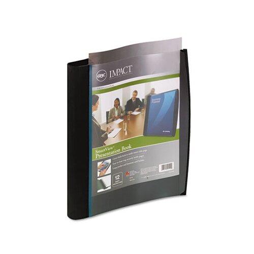 Wilson Jones Smart-View Multi-Ring Presentation Book, 12 Letter-Size Sleeves