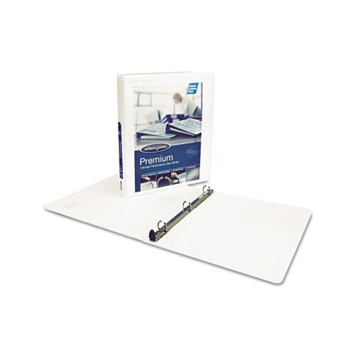 "Wilson Jones Premium Single-Touch Locking Round Ring View Binder, 3"" Capacity, Blue"