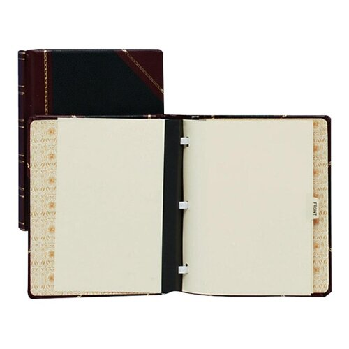 "Wilson Jones Minute Book Binder, 500-Sheet Capacity, 11""x8-1/2"", Red/Black"