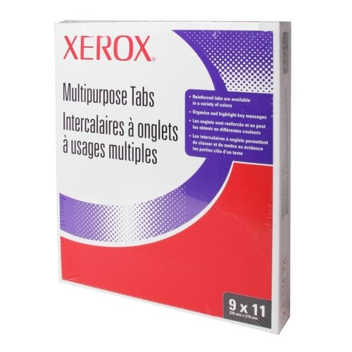 Xerox® Single Reverse Collated Index Dividers, 5-Tab, Punched, 9 X 11, 250 Sets/Carton