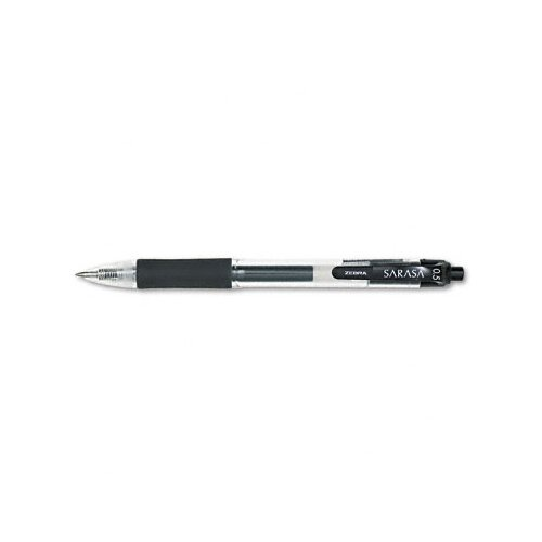 Zebra Pen Corporation Sarasa Retractable Gel Pen, Fine, 12/Pack