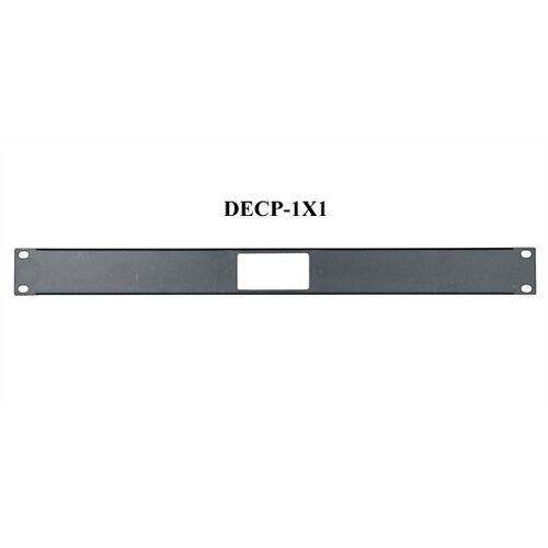 "Middle Atlantic 1U Space (1 3/4"" H) Decora® Laser Knockout Panel"