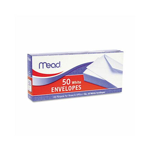 Mead Business Envelope, 4 1/8 X 9 1/2, 20 Lb, 50/Box