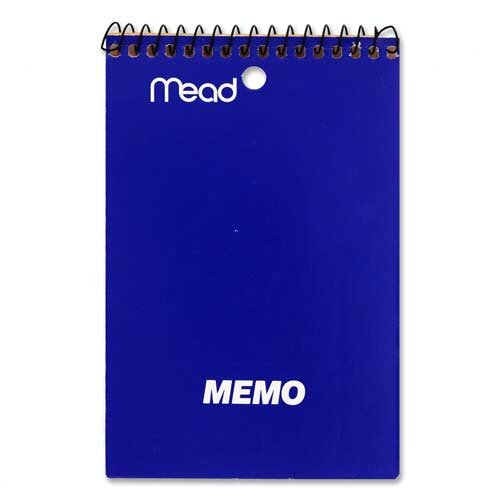 "Mead Memo Book, College Ruled, 4""x6"", 40 Sheets, Assorted"