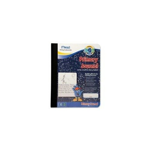 """Mead Primary Journal,Narrow Ruled, 9-3/4""""x7-1/2"""", White Paper/Black Cover."""