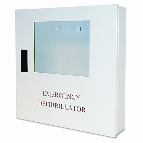 Defibtech Wall-Mount Case, Alarmed, 18 X 18 X 4