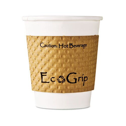 Eco-Products, Inc Ecogrip Recycled Content Hot Cup Sleeve, Kraft, 1300/Carton
