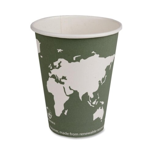 Eco-Products, Inc World Art Renewable Resource Compostable Hot Cups, 12 Oz, 50/Pack