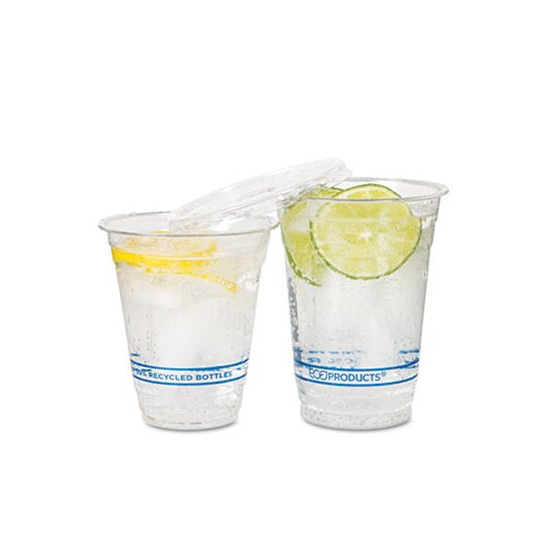 Eco-Products, Inc Bluestripe Recycled Content Cold Drink Cups, 9 Oz., 50/Pack
