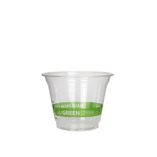 Eco-Products, Inc GreenStripe Renewable Resource Compostable 9 oz Cold Drink Cup in Clear
