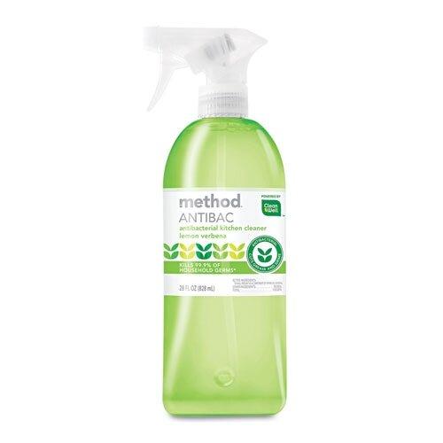 Method® Antibacterial Spray, Kitchen, Lemon Verbena, 28 Oz Bottle