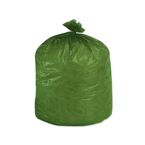 Stout Eco-Degradable Plastic Trash Garbage Bag, 33 Gal, 1.1Mil, 33X40, 40/Box