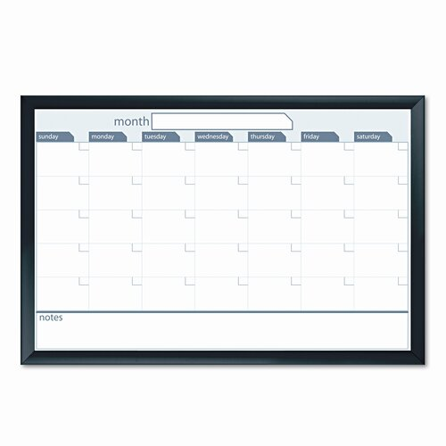 The Board Dudes Dudes Premium Magnetic Dry Erase Monthly 2' x 3' Whiteboard