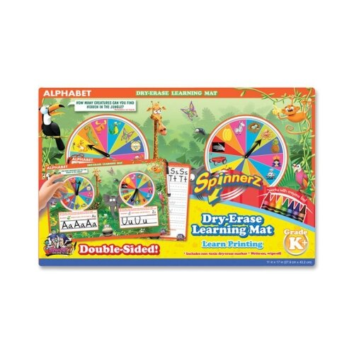 The Board Dudes SpinnerZ Dry-erase Learning Mat, Alphabet, Assorted