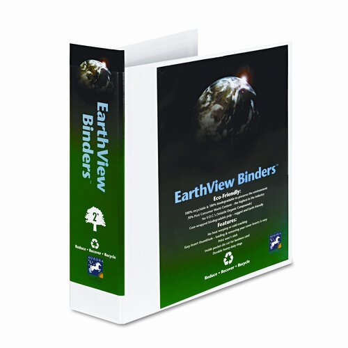 "Aurora Products Earthview D-Ring Presentation Binder, 2"" Capacity"