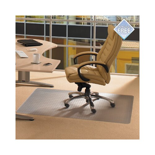 Cleartex Phthalate Free PVC Chair Mat for Low Pile Carpets