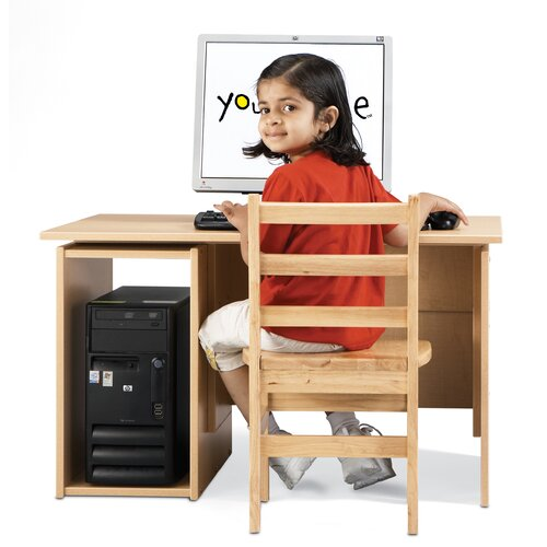 "Young Time 35.5"" W x 24"" D Computer Table"