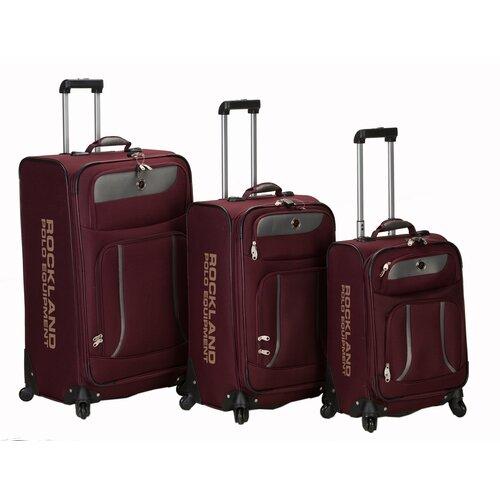 Rockland Polo Equipment Navigator 3 Piece Spinner Luggage Set