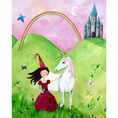 CiCi Art Factory Wit & Whimsy Princess Canvas Art