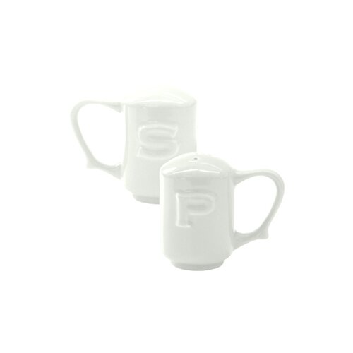 Wade Ceramics Dignity Salt and Pepper in White