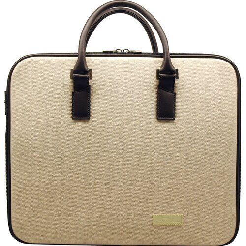 Aaron Irvin Canvas Business Cases Double Laptop Briefcase