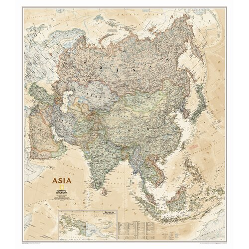 National Geographic Maps Asia Classic Wall Map
