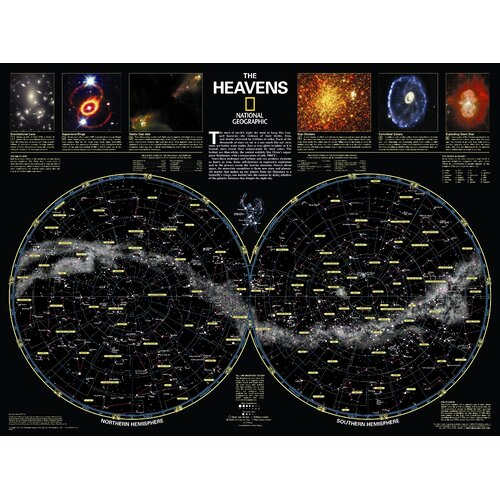 National Geographic Maps The Heavens Poster Map