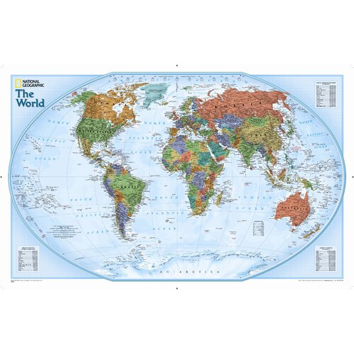 National Geographic Maps World Explorer Wall Map