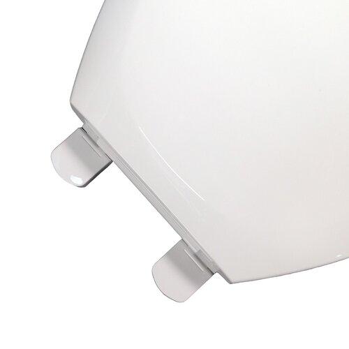 "Comfort Seats EZ Close 'N"" Clean Premium Plastic Elongated Toilet Seat"