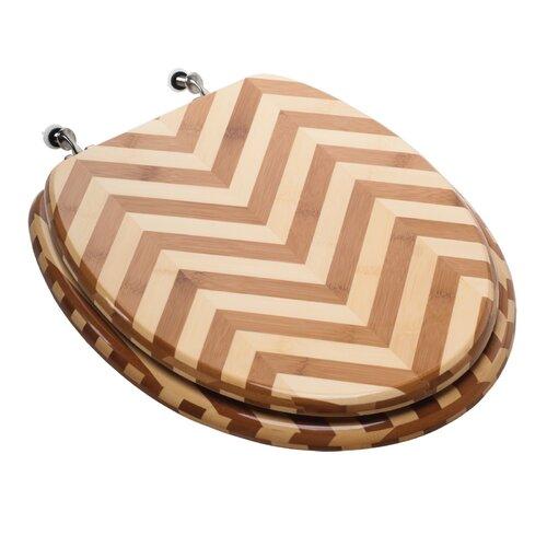 Comfort Seats Premium Piano Wood Elongated Toilet Seat
