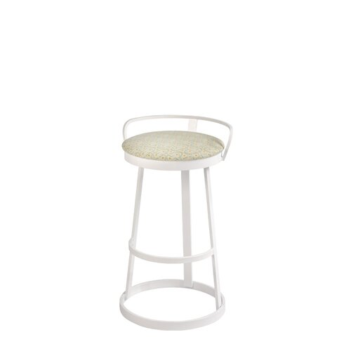 Trica Texto Bar Stool with Cushion