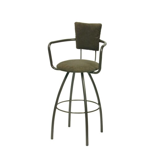 Trica Zip Swivel Bar Stool with Cushion