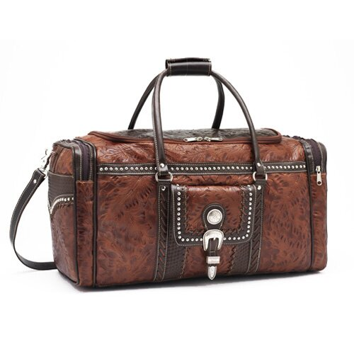 "American West Cattle Drive 22"" Leather Travel Duffel"