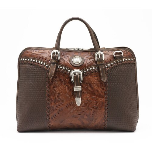 Cattle Drive Leather Laptop Briefcase