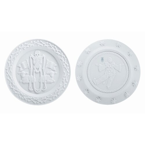 "Makkum Biscuit by Studio Job 9.2"" Innocence Plate"