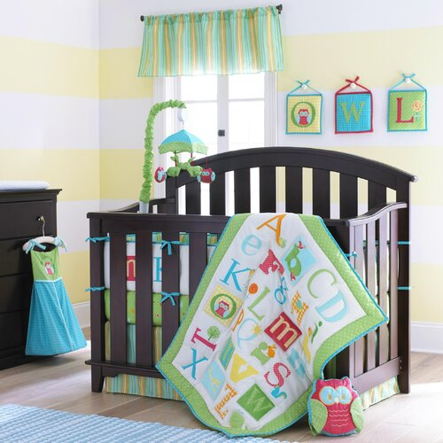 "Laura Ashley Baby Owlphabet 52"" Curtain Valance"