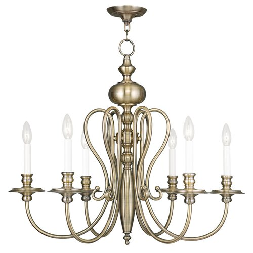 Caldwell 6 Light Candle Chandelier