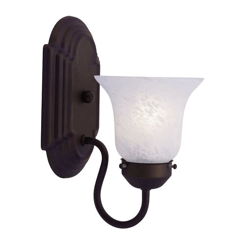 Livex Lighting Home Basics 1 Light Wall Sconce