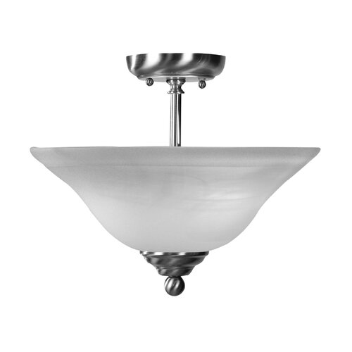 "Livex Lighting 10.5"" 2 Light Semi Flush Mount"