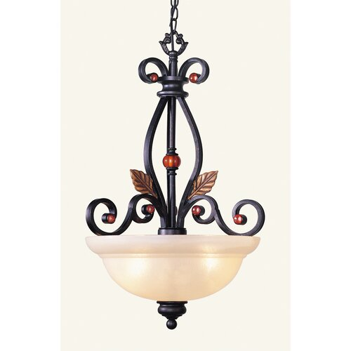 Livex Lighting Tuscany 3 Light Inverted Pendant