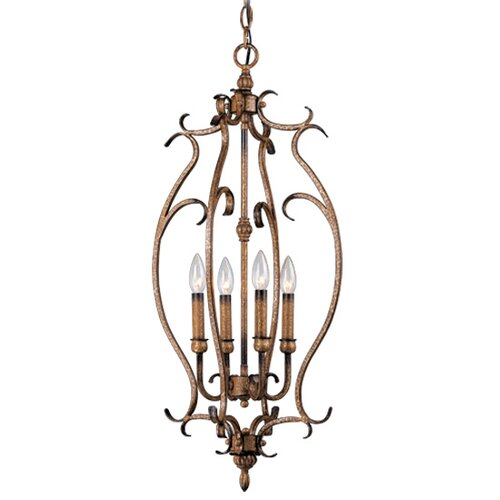 Livex Lighting Bistro 4 Light Foyer Pendant