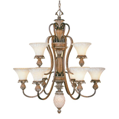 Livex Lighting Savannah 10 Light Chandelier