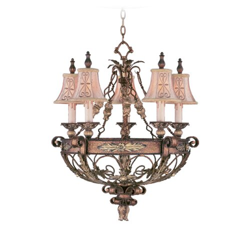 Livex Lighting Pamplona 5 Light Chandelier