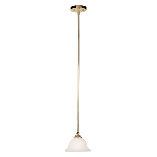 North Port Mini Pendant in Polished Brass
