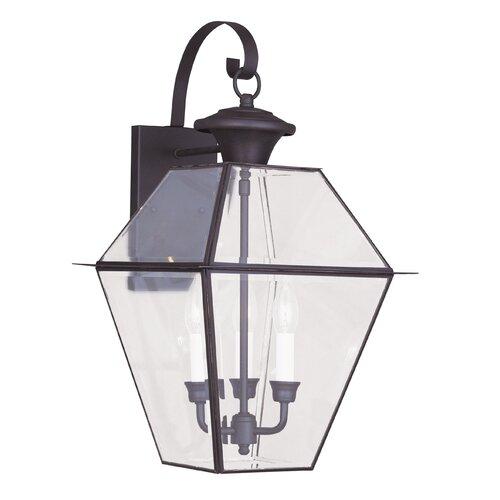 Livex Lighting Westover 3 Light Outdoor Wall Lantern & Reviews Wayfair