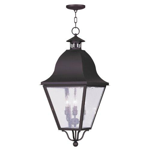 Livex Lighting Amwell 4 Light Outdoor Hanging Lantern