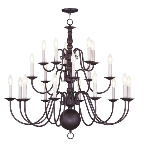 Livex Lighting Williamsburg 20 Light Chandelier